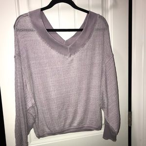 Free People South Side Thermal - Lilac